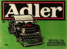 BERNHARD, Lucian (1883-1972). 1. Adler, cartel, 1908 -1910