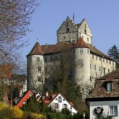 """Alte Schloss (Old Castle) in Meersburg, Germany. One of the scenes in my novel """"Battle Axe"""" takes place here. The castle boasts a huge collection of medieval weaponry, which figures prominently into the scene. Wonderful Places, Beautiful Places, German Architecture, Gothic Castle, Germany Castles, Southern Europe, The Beautiful Country, Central Europe, Black Forest"""