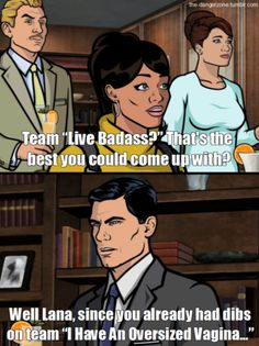 Archer: the funniest show you've never seen. Archer Tv Show, Archer Fx, Funny V, Hilarious, Funny Humor, Archer Funny, Archer Quotes, Sterling Archer, Danger Zone