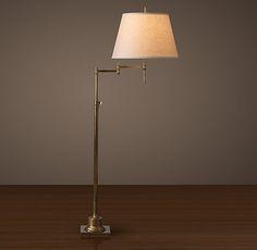 Library Swing-Arm Floor Lamp