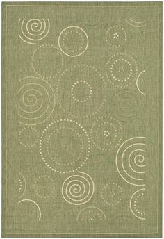 Safavieh Courtyard CY1906-1E06 Rondelle Olive / Natural Rug