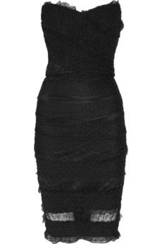 Dolce and Gabbana  textured strech lace dress $2495.00....... One day will fit in this and afford to pay for this!