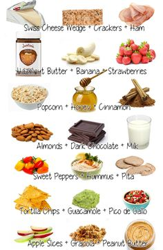 Healthy snacks that fill you up. So easy to have all these items in your kitchen! I know my next shopping list! looks good to me(: