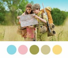 color inspiration from Wes Anderson's movies.
