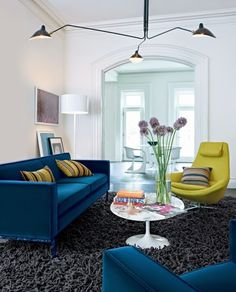 Need a chartreuse chair to compliment my blue velvet couch.