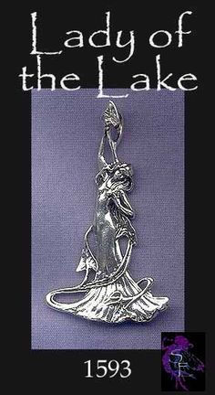 Sterling Silver Lady of the Lake Avalon Pendant