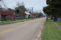 Main Street in Cloutierville, Louisiana USA