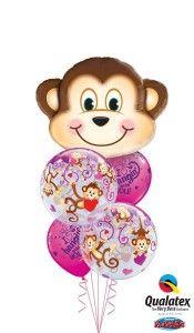 Valentine's Day Monkey Love Bouquet  www.thepartyshere.com.au