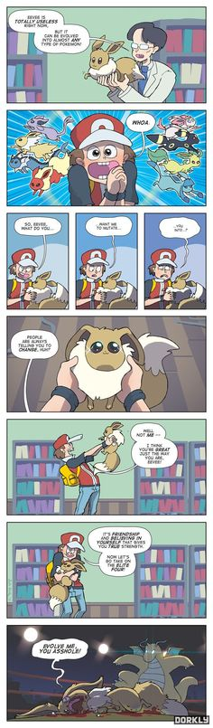 Theory of Eeveelution: If Pokemon were real, I don't know how many of my friends would do this.