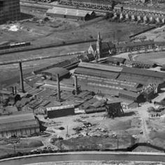 The Glazebrooks Ltd Paint Works, the Wire Rope Works and the Grand Union Canal, Tyseley, 1935  Source: Britain from Above website Image reference EPW047188
