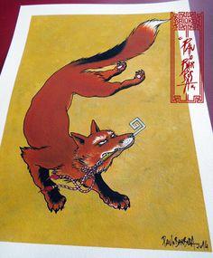Fox holding a key Art by Paulo Barbosa - Ariuken Art on Facebook