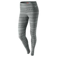 Nike Women's Squad Allover Fair Isle Legging-yeahhhhhh I'm going to need these from Santa.