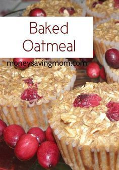 What a cool idea! Portion-sized, freezer-friendly baked oatmeal.