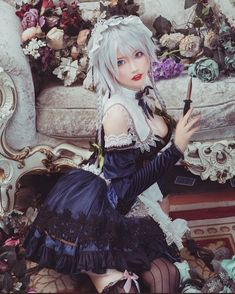 Kawaii Cosplay, Amazing Transformations, Fantasy Girl, Lolita Dress, Cosplay Girls, Photo Poses, Girl Fashion, Character Design, Flower Girl Dresses