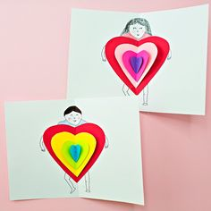 hello, Wonderful - DIY PAPER HEART CARD