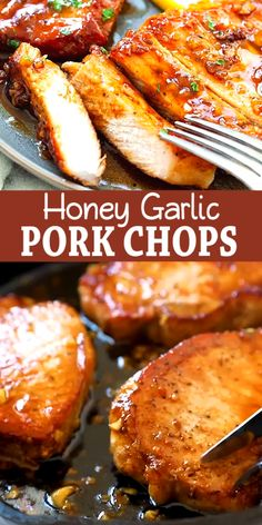Chicken Thigh Recipes, Baked Chicken Recipes, Garlic Sauce Recipes, Good Pork Chop Recipes, Dinner Recipes With Pork Chops, Meals With Pork Chops, Pork Chop Meals, Pork Chop Sauce, Pork Chop Marinade