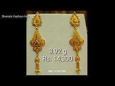 Gold Earrings Designs, Jewellery Designs, Gold Jewellery, Jewelry Box, Fashion Hub, Fashion Jewelry, Indian Bridal Jewelry Sets, Ladies Bracelet, Lord Murugan