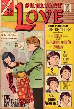 The Beatles Saved My Romance ~ Summer Love, Charlton Comics, Oct. 1966
