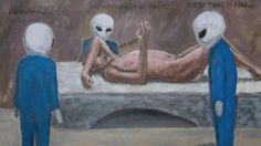 """educatednipple: """"Can someone explain this to me pls """" Alien Abduction, Out Of This World, Tumblr, Paintings, Art, Art Background, Paint, Painting Art, Kunst"""