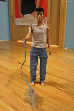 Zayn takes his pet dust bunny for a walk