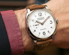 """Panerai Radiomir 1940 3 Days Automatic Acciaio Watch Hands-On - by Bilal Khan - """"...This year at SIHH, Panerai debuted four new Radiomir 1940 GMT watches (Hands-on with those here), but they also released another Radiomir 1940 watch that is actually a """"first"""" for the brand. The Panerai Radiomir 1940 3 Days Automatic Acciaio (PAM00655) watch is, as our David Bredan covered here, the first white dial Radiomir..."""""""
