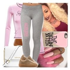 """""""i like good , i like bad bítches that can roll it up"""" by lamamig ❤ liked on Polyvore featuring Casetify, Adam Selman, MICHAEL Michael Kors, Forever 21, women's clothing, women, female, woman, misses and juniors"""
