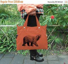 Fathers Day Sale 20% off Orange canvas messenger bag /