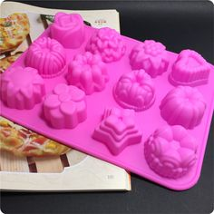 Hot flower-shaped cake mold silicone muffin cases candy jelly ice mold silicone soap silicone bakeware 1PCS #Affiliate