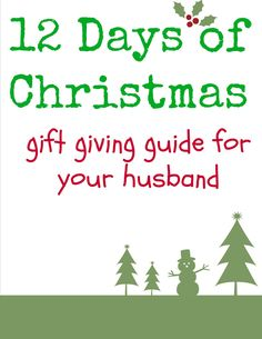 12 days of Christmas gift giving guide for your husband/boyfriend