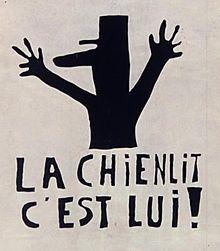La Chienlit c'est lui !, affiche de l'Atelier des Beaux-arts