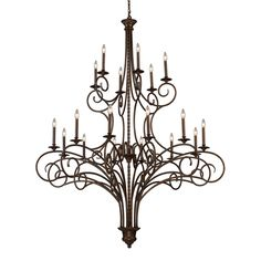 Gloucester 18 Light Chandelier In Weathered Bronze 15044/12+6