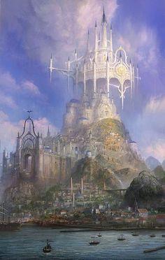 Immagine di castle digital art and magic Fantasy concept art Fantasy landscape Fantasy city