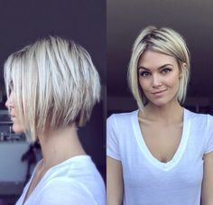 nice short blonde hair ✂️ Krissa Fowles...