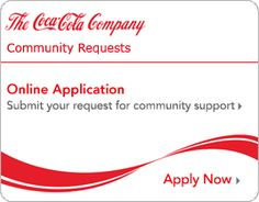 Community Requests Online Application:  submit your request for community support.  Apply now.