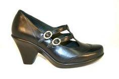 http://www.clog-heaven.com/servlet/the-3356/Dromedaris%2C-Eco-Friendly%2C-dress%2C/Detail    black silver buckles pumps heels high dressy dress cute
