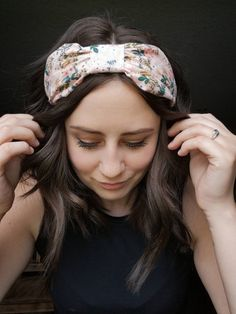 Bohemia Band in English Garden Boho Headband, Headbands, Scarf Hairstyles, Braided Hairstyles, Rifle Paper Co, Floral Hair, Vintage Hairstyles, Hair Ties, Vintage Floral