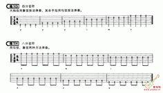 四分音符和八分音符的吉他练习谱