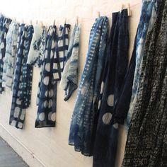 shibori silk scarfs