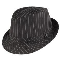 Buy the Jaxon & James Pinstripe Trilby Hat - Black at Village Hats. The destination for hats and caps online. Goth Hat, Jaxon Hats, Bailey Hats, Pork Pie Hat, Classic Hats, Trilby Hat, Diamond Crown, Hat Sizes, Caps Hats