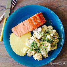 laks med hollandaise - LCHF Seafood Recipes, Keto Recipes, Snack Recipes, Healthy Recipes, Healthy Food, Good Food, Yummy Food, Tasty, Lchf