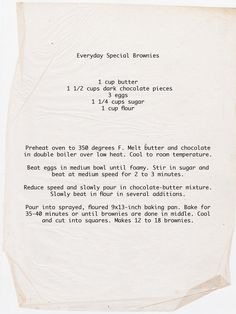Recipe for Everyday Brownies!