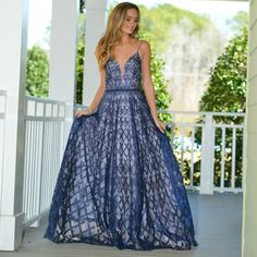 484dfd3ca99c Night To Remember Navy Formal Dress From Cousin Couture. Navy Formal Dress,  Formal Wear