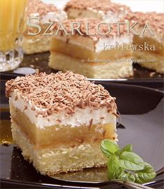 szarlotka królewska Delicious Cake Recipes, Yummy Cakes, Dessert Recipes, Yummy Food, Lemon Cheesecake Recipes, Chocolate Cheesecake Recipes, Polish Desserts, Polish Recipes, Kolaci I Torte