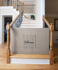 The Stair Barrier Khaki Stair Barrier Banister To Banister Safety Gate |  Zulily