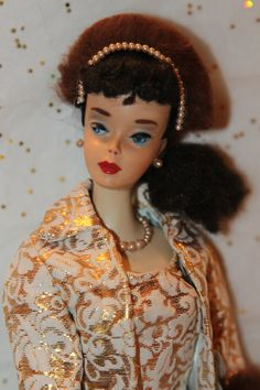 """Vintage Barbie Ponytail # 3, wearing my fav Barbie """"store bought"""" outfit. loved the """"mink"""" head band..."""
