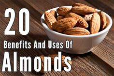 Almonds are tasty and delicious nuts that offer great health, hair & skin benefits. Learn the amazing benefits of almonds so as to savor them alone or in various recipes.