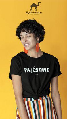 T-shirt - Palestine 100% coton unisexe. Lepetitdromadaire.com Palestine, T Shirt, Movies, Collection, Unisex, Cotton, Woman, Supreme T Shirt, Tee