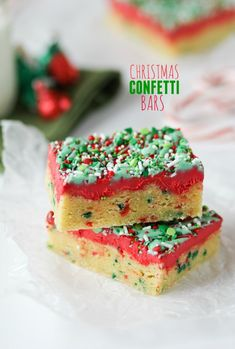 Christmas Confetti Bars - Confessions of a Cookbook Queen
