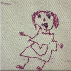 娘の絵「踊るママ」 - @kazzen- #webstagram
