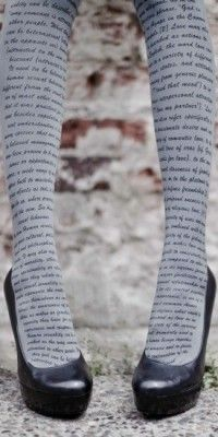 Love Text Print Tights Grey & Black- Fashion Print Tights | TrendyLegs